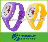 popular hello kitty kids silicon watch for promotion gift