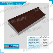 Colorful Stone Coated Metal Roof Tile /New Wooden Shingle