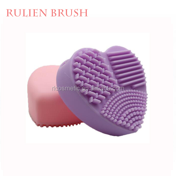 New Heart Shape Cleaning Tools for makeup brushes Cosmetic Brush Washing Cleaners