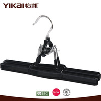 Black PVC coated metal pant and trousers hanger