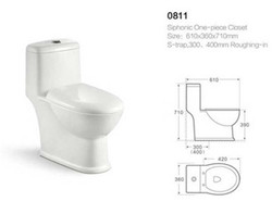 Cheap price elegant design one piece washdown ceramic women toilet wc price