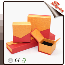 2017 red and yellow unique cheap paper jewelry box in stock China Suppliers