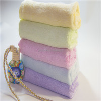 China factory directly supply 100 % bamboo fiber solid color face towel