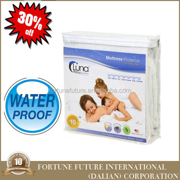 fitted waterproof bed bug mattress protector with low price