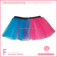 Wholesale 80's Fancy Dress Girls Neon Tutu Skirt Dress Pink Blue