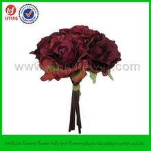 "11"" Man-made Decoration Flower,Man-made Roses Bouquet,Decorative Man-made Bouquet Flower"
