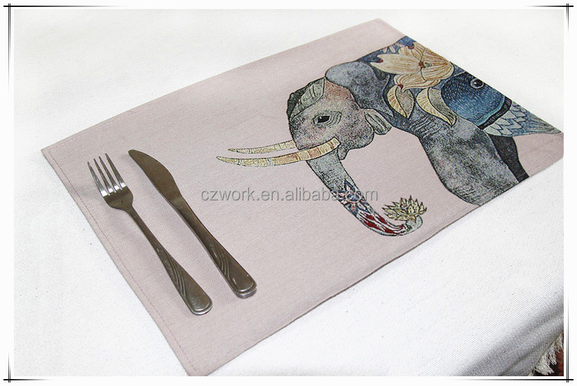 Tapestry jacqaurd fabric table mats for sell