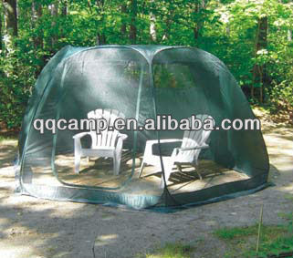 Outdoor pop up hex screen room/garden tent/sun room/garden room