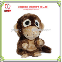 Sound/voice control rolling and laughing monkey stuffed electronic plush toys