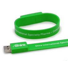 Hot selling silicone usb flash drive bracelet promotional wristband custom box for promotion