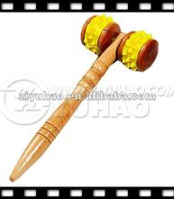 Wooden Mini Decorative Neck Messages with Yellow Rubber