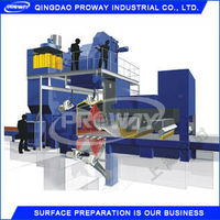 steel structure auto shot blasting machine , auto blaster