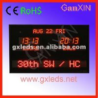 Supply CE,RoHS approved brightness adjustable home decorative led digital world clock