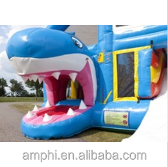 INFLATABLE COMBO JUMPERS/COMBO JUMPER SHARK WITH ROOF