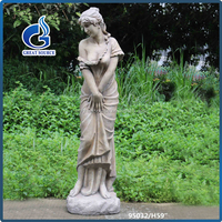 high quality large fiberglass garden female statue wholesale