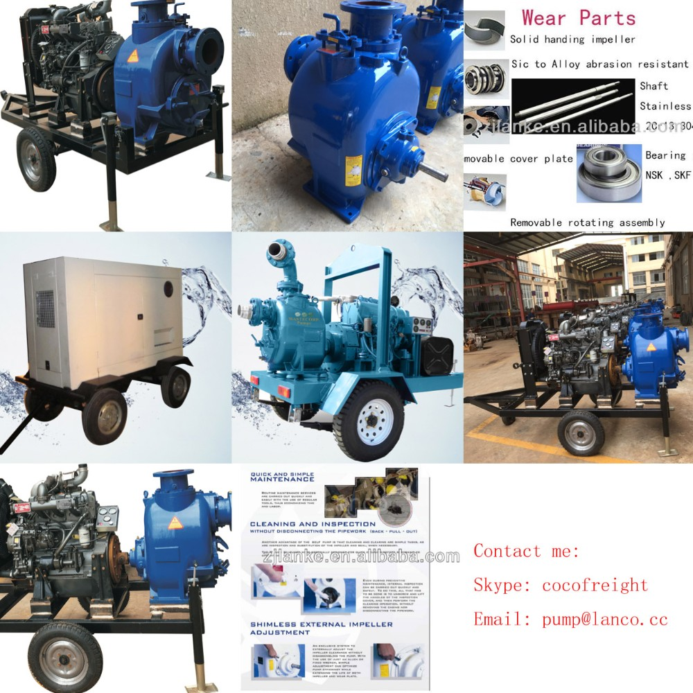 New Developped Non Clogging Self Priming Sewage Water Pump Made In China