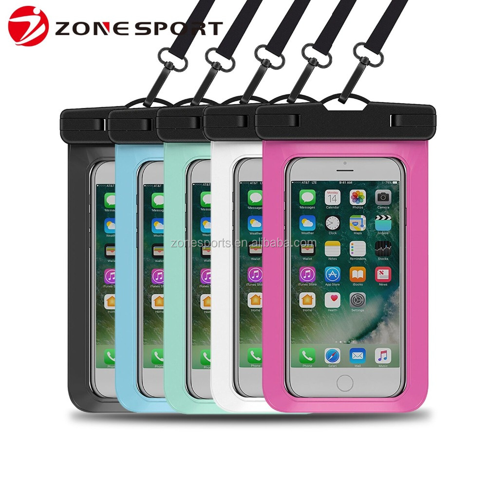 Amazon attractile 100% water proof mobile phone case bag wholesale