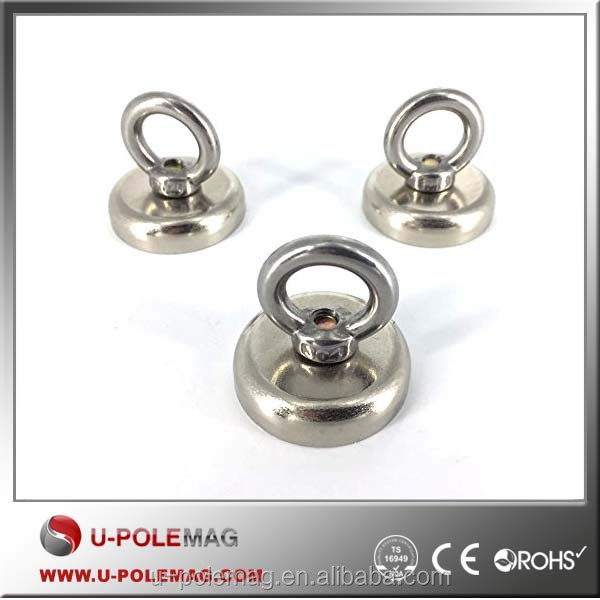 High Quality Neodymium Holding Magnets Cmposite Flexible Pot Magnet