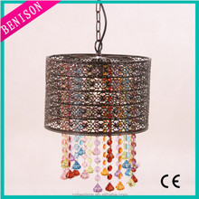 Hot Selling Modern Crystal Pendant Light Colorful Pendant Lamp Tear Drop Pendant Light For Lighting Decoration BS284-141