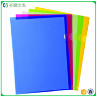Factory OEM A4 Letter Size Clear Document Folder Project Pockets L Shape File Folder
