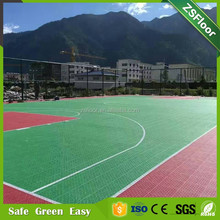 pvc material removable plastic floor tile outdoor basketball flooring