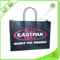 black kraft paper bag for shopping and gift packing, made of various paper