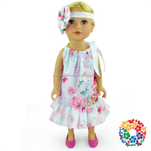 Hot Selling New Products Baby Doll Dress Pillowcase Dress Doll Clothes Flower 18 Doll Clothes Pattern
