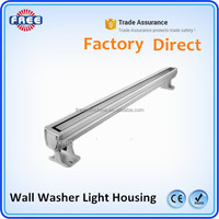 Factory direct OEM aluminum wall washer lamp shade, IP67 wall washer lamp shade, 18w/24w/36w wall washer lamp shade