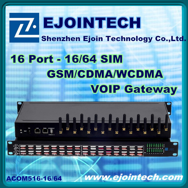 HOT SALE! Ejoin Asterisk voip gsm gateway , 16 channels 64 sim goip z-wave gateway