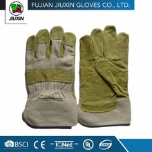 JX68E510 Hot Sale Industrial Welding Yellow Leather Work Glove