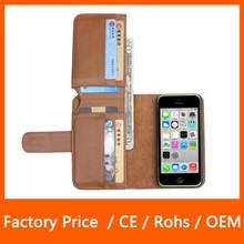 Multi Function Wallet Top PU Leather Mobile Phone Case for iPhone 5C