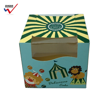 Economical Unique cardboard box mini cupcake box with customized design