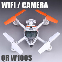 Cheap QR W100S FPV 2.4Ghz WiFi drone Video camera Quadcopter gravity 4-blades helicopter