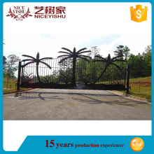 Factories in china high quality and low price garden hous/57.Factory Wholesale Used Beautiful House Main Wrought Iron Gate/Steel