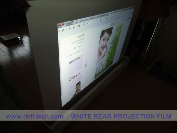 black grey fabric projection screen in daylight/sunlight