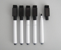 HOT SELL Magnetic Whiteboard Permanent Marker with Build-in-Eraser for LED board/Glassboard