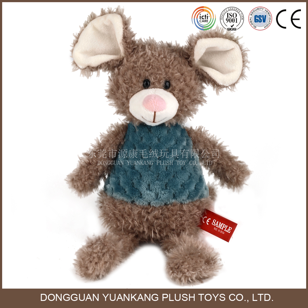 Plush stuffed animal brown mouse toy
