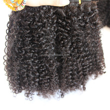 Specialized Human Virgin Hair Quality Cambodian Kinky Curly Hair Extension for Black Women
