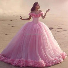 High Quality Pink Wedding Dress 2017 Custom Made Vestidos De Noiva Ball Gown Pink Alibaba China