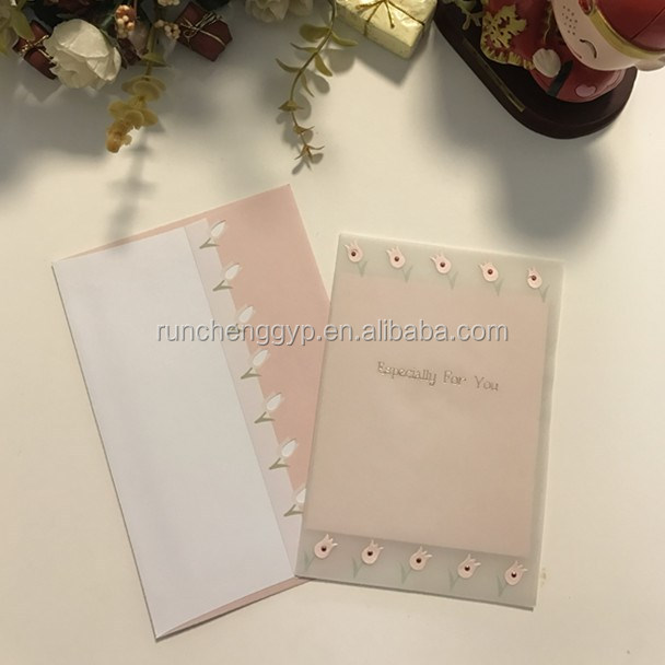 PVC Transparent Greeting Card Especially For You