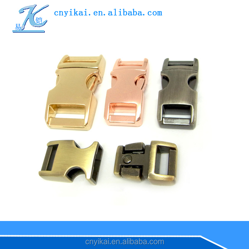 wholesale 1'' metal buckle metal paracord buckle side release buckle