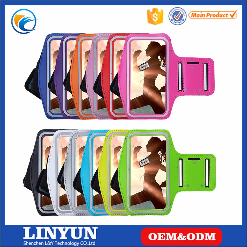 Waterproof Sport Running Arm Band Case For iPhone4/4s/5/5s/6 Gym Mobile Phone Arm Holder Belt Leather Cover