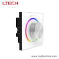 LTECH New DMX Knob Panel LED RGB Controller with 2.4G Wireless and DMX Signal Output, 5 years warranty