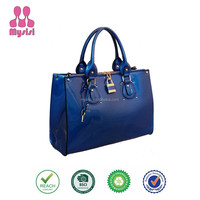 Fashion Designer Patent or PU Leather Women Handbag Purse