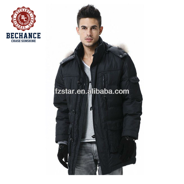 LZ183 men gender OEM service supply type long padded parka for winter