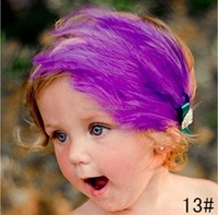 Fashion Baby Girl Toddler Infant Elastic flowers Headbands / feather headband Hair Band Accessories