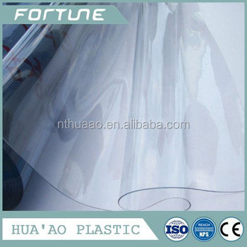 transparent pvc super clear film to make packing bags