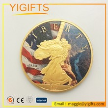 Professional Free Artwork high quality Guaranteed Custom metal USA Challenge eagle Coin