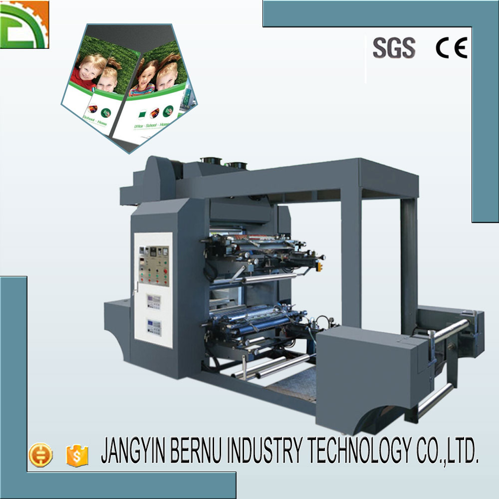 2 Color Flexographic Printing Machine for paper and no woven material