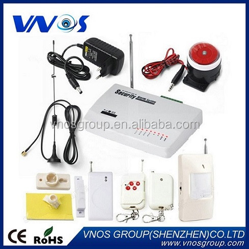 Wireless/wired Phone SIM GSM Home Burglar Security Alarm System English Russian Spansih Voice Prompt Alarm Sensor kit